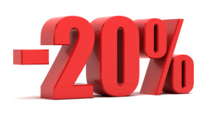 20 percent discount 3d text